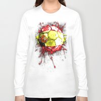 spain Long Sleeve T-shirts featuring football  spain by seb mcnulty