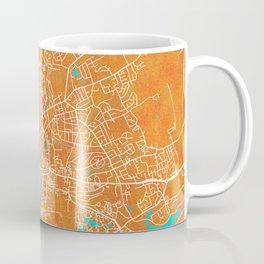 York, England, Gold, Blue, City, Map Coffee Mug