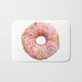 Single pink donut Bath Mat