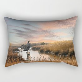 Sunset in the Wetlands Rectangular Pillow
