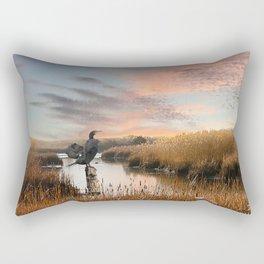 Sunset in the Wetlands Rectangular Pillow