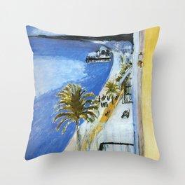 Henri Matisse - Bay of Nice, France, Côte d'Azur Throw Pillow