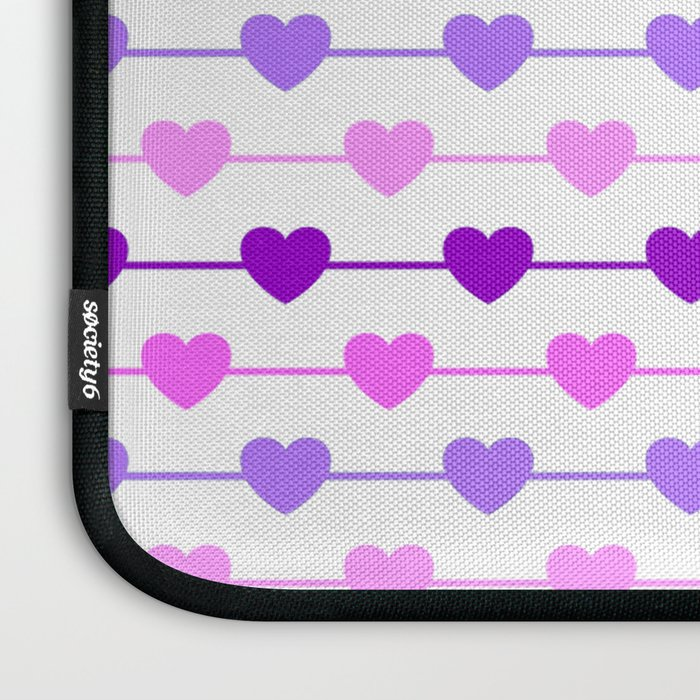 Hearts - Pink and Purple Laptop Sleeve