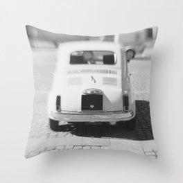 fiat 500 car - hers Throw Pillow