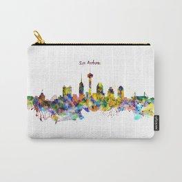 San Antonio Skyline Silhouette Carry-All Pouch