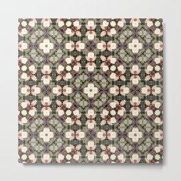 Chrysanthemum Kaleidoscope Photographic Pattern #1 Metal Print