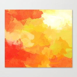 Colorful Abstract - red orange pattern Canvas Print