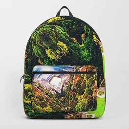Mandala: Toronto Skyline - Riverdale park Backpack