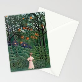 Woman Walking in an Exotic Forest, Henri Rousseau, 1905 Stationery Cards