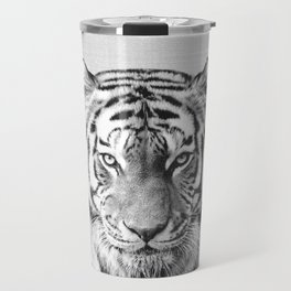 Tiger - Black & White Travel Mug
