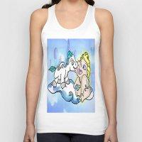 hercules Tank Tops featuring baby Hercules and Pegasus by grapeloverarts