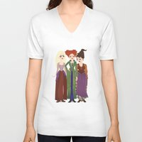 hocus pocus V-neck T-shirts featuring Hocus Pocus Illustration by Shop Sarah Alyson