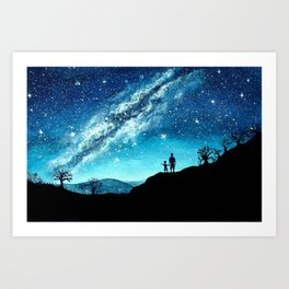 Starry Night Sky Art Print