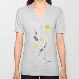 Scandi Micron Art Design   170412 Telomere Healing 13 Unisex V-Neck