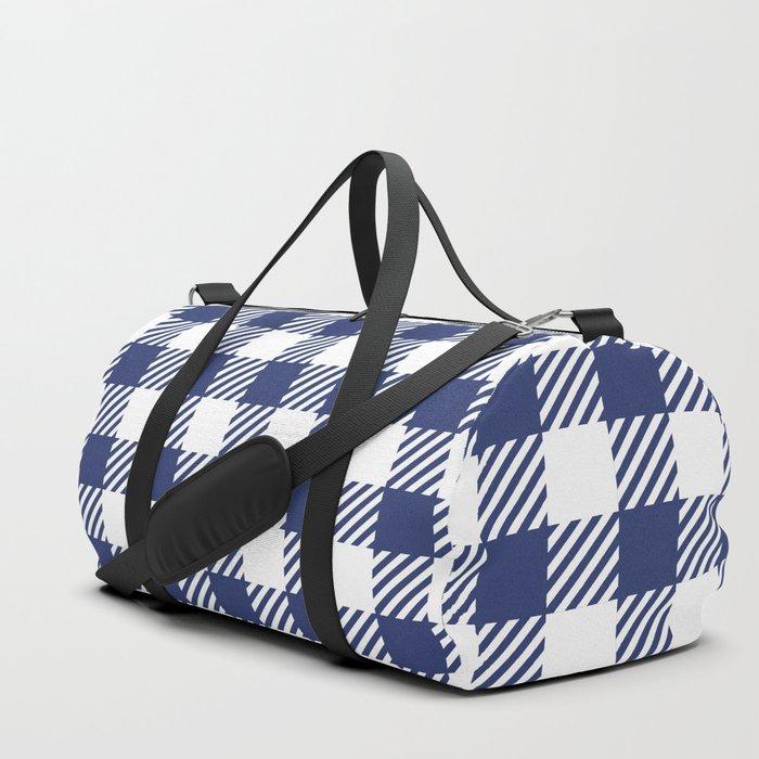Blue Vichy Duffle Bag