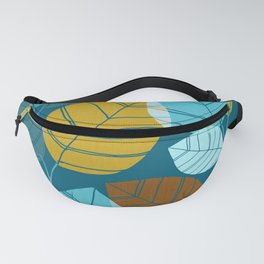 Winter Forest / Leaf Pattern Fanny Pack
