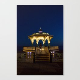 Brighton Bandstand at Night Canvas Print