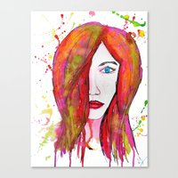 valentina Canvas Prints featuring Valentina by Laurie Art Gallery