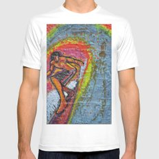 Indian Summer  MEDIUM Mens Fitted Tee White
