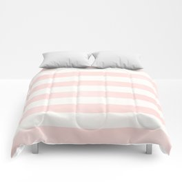 Pink Coral Stripes Comforters