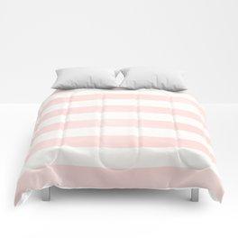 Blush Pink Coral Stripe Line Bold Stripes Lines Comforters