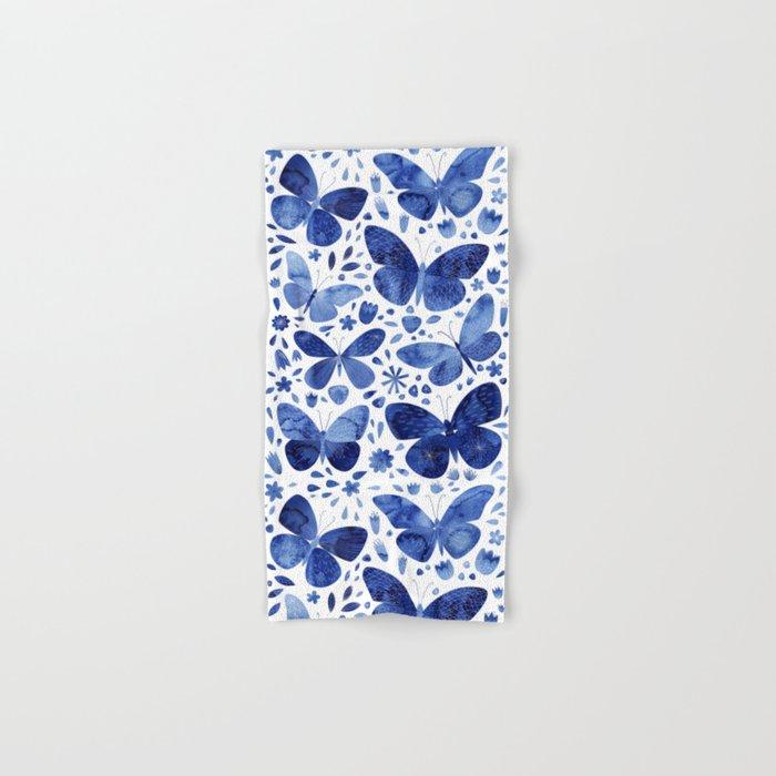 Blue Butterflies Hand & Bath Towel