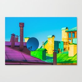 The brightness of the roofs of the city Canvas Print