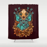 sphynx Shower Curtains featuring Sphynx Cat by Robin Clarijs
