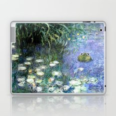 Water Lilies with Frog Laptop & iPad Skin