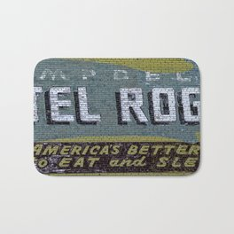 Idaho Falls - Vintage Hotel Rogers Better Place To Eat And Sleep Bath Mat