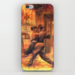 Couple dancing tango in Buenos Aires iPhone Skin
