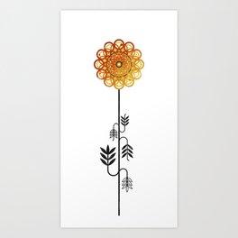 Flower of October - Marigold Art Print