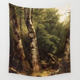 Asher Brown Durand - Landscape (Birch and Oaks) Wall Tapestry