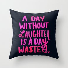 Laughter Throw Pillow