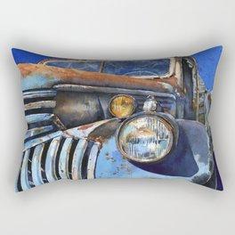 Old Blue Rectangular Pillow