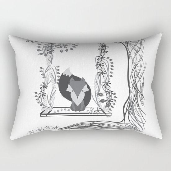 Jungle Fox Rectangular Pillow