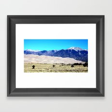 Great Sand Dunes Framed Art Print