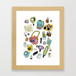 Survival Tools Framed Art Print