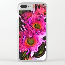Flowers of Hot Pink 4 Clear iPhone Case