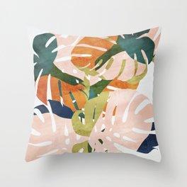 Monstera delight Throw Pillow