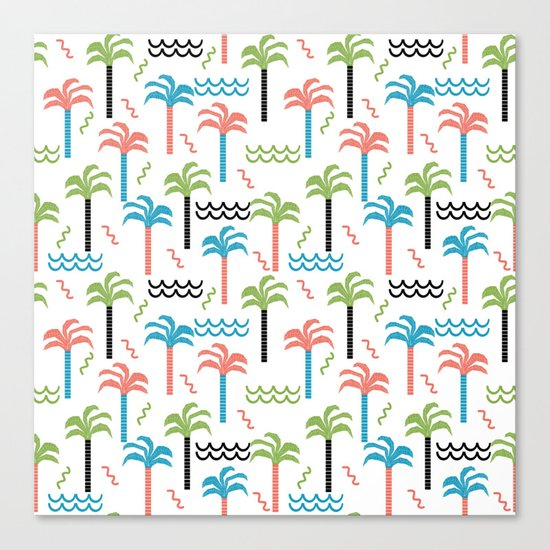 summer tropical shapes modern minimal abstract pattern trendy gifts Canvas Print
