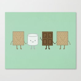 Life is S'more Fun Together (Mint) Canvas Print