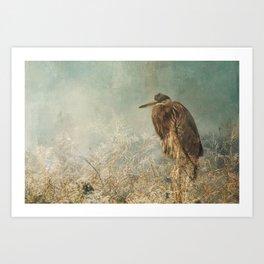 North Carolina Heron Art Print
