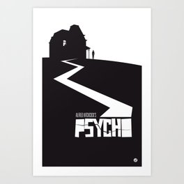 The Black Collection' Hitchcock Movie Art Print