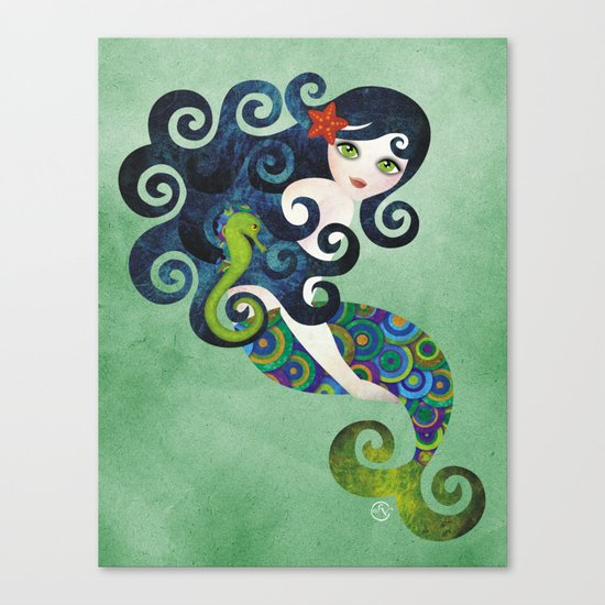 Aquamarine Mermaid Canvas Print