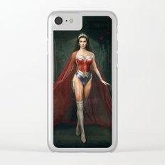 Wonder . Woman Clear iPhone Case