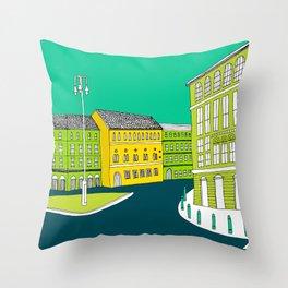 CITY CENTRE // TOWN Throw Pillow