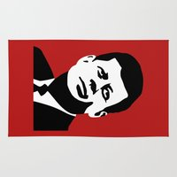 jfk Area & Throw Rugs featuring JFK Poster by Steve Lovelace