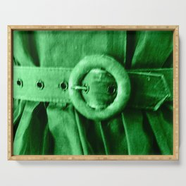 Green Vintage BELT Serving Tray