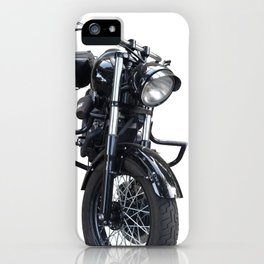 Black Motorcycle iPhone Case